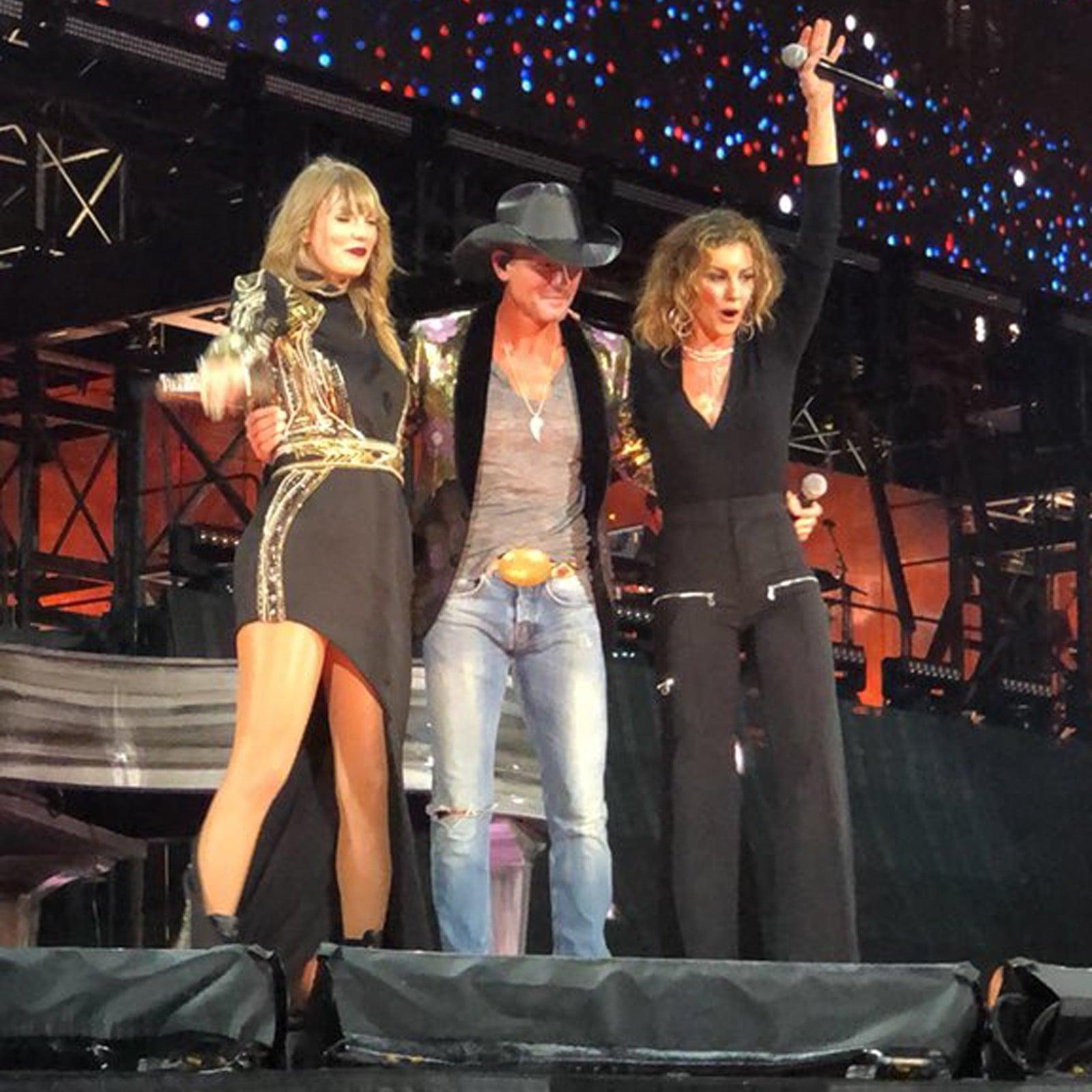 Taylor Swift With Tim Mcgraw And Faith Hill Reputation Tour Popsugar Celebrity Australia