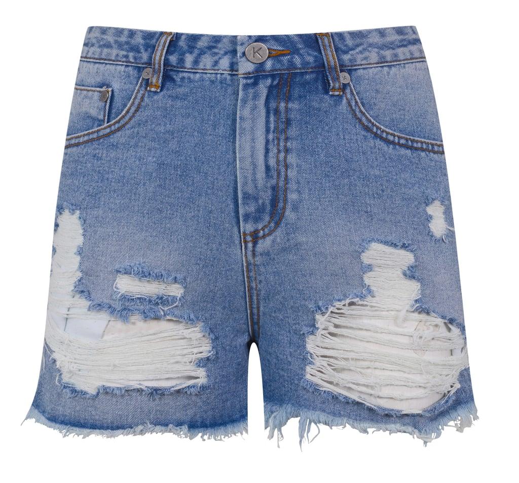 Kendall + Kylie High Rise Denim Shorts