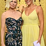 Michelle Williams and Busy Philipps at the 2019 Emmys