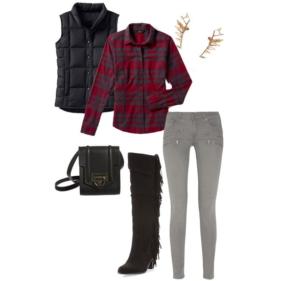 Cute Outfit Idea With Down Vest