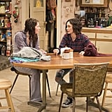 This looks like a serious chat between Darlene and her daughter, Harris.