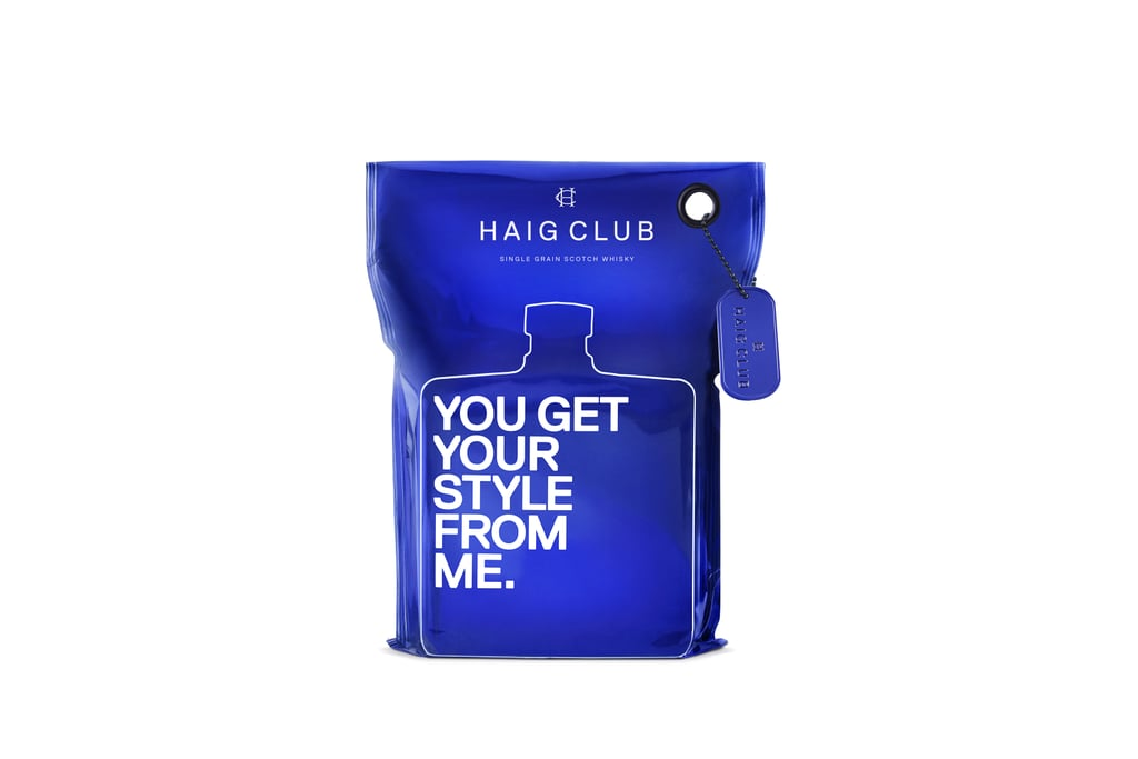 Haig Club Whisky (£50) From 1 June, Selfridges (London, Manchester, and Birmingham) and Haig Club Single Grain Scotch Whisky are sealing bottles in a striking blue metallic wrap fronted with playful statements complete with the opportunity to engrave copper swing tags with a personalised message.
