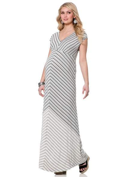 A maxi dress can be the expectant mama's best friend, and  Short Sleeve Lightweight Maternity Maxi Dress ($69) is styled to flatter moms of all shapes and sizes.