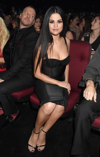 Selena Gomez Wearing a Black Dress