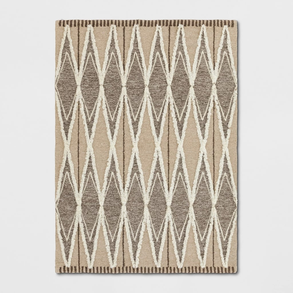 Tufted Damask Area Rug