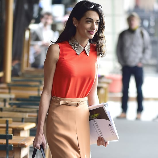 Amal Clooney Wearing a Gucci Top