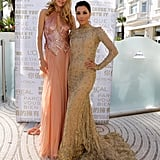 Doutzen Kroes and Eva Longoria posed together at a L'Oreal cocktail reception.
