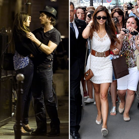 Nina Dobrev and Ian Somerhalder Get Romantic in Paris