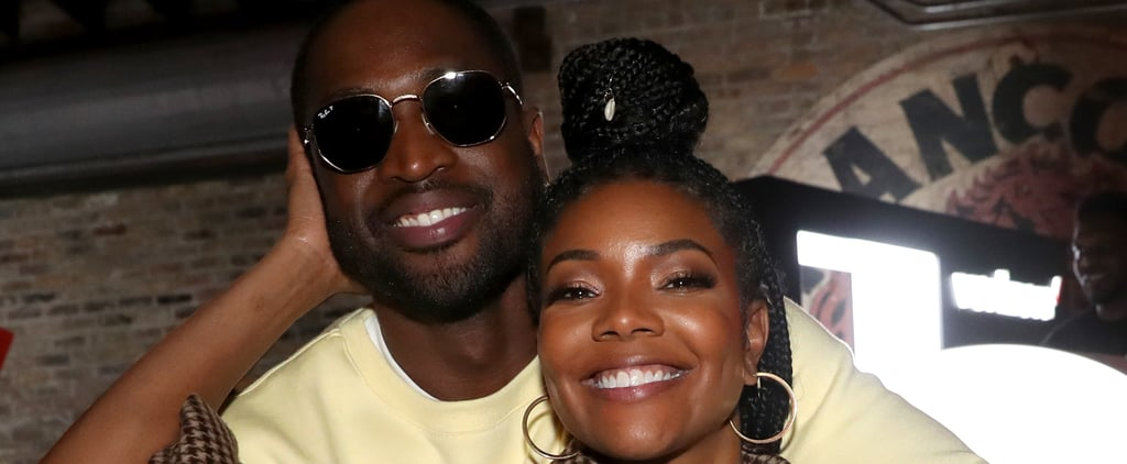 Gabrielle Union and Dwyane Wade Matching in Etro and Prada