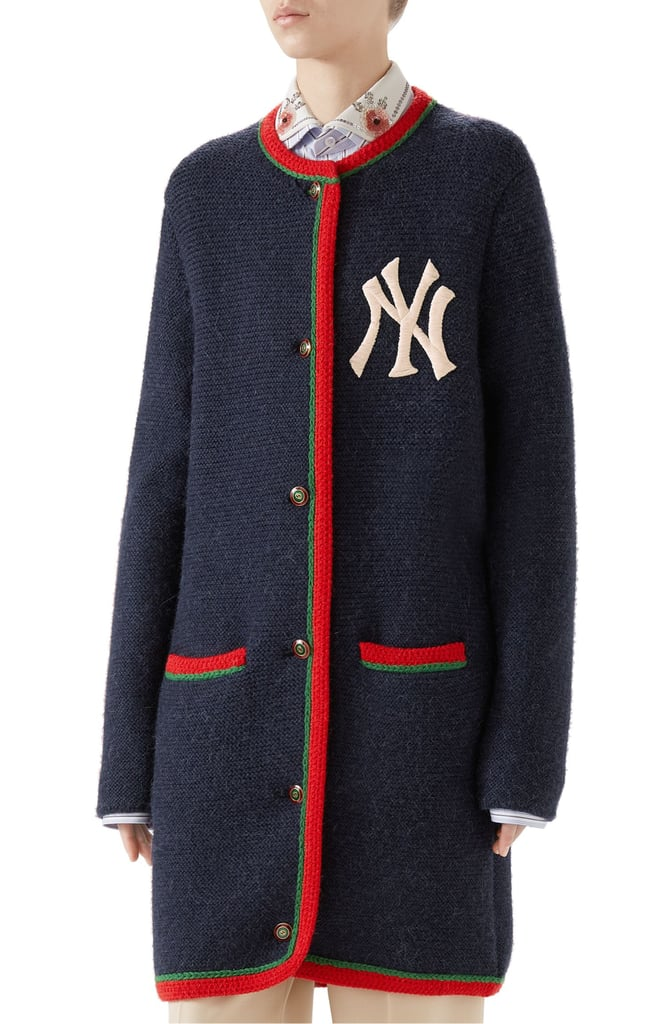 Gucci NY Patch Wool & Alpaca Cardigan