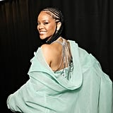 Rihanna Backstage at the British Fashion Awards 2019 in London