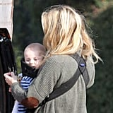 Six-month-old Bing Bellamy with Kate Hudson.