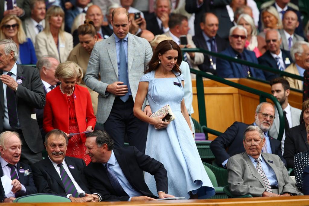 Kate Middleton Blue Dress at Wimbledon 2019