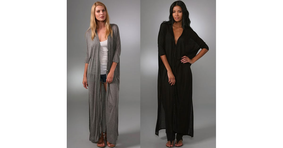 enza costa floor-length cardigan | popsugar fashion