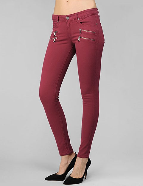 "Paige Denim Edgemont Ultra Skinny in Deco Rose ($235) Denim expert soundoff: ""Go for an ombré effect — wear light pink to accent bright pink skinnies or a light blue with vibrant turquoise. The key is to not be afraid — choose bold color combinations and opt for unexpected neutrals such as gray, navy, and beige rather than a plain white t-shirt."" — Paige Adams-Geller, Paige Denim founder and creative director"