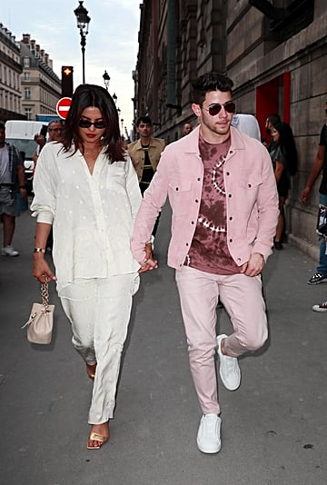 Priyanka Chopra and Sophie Turner in Victoria Beckham PJs