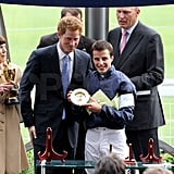 Prince Harry Makes a Dashing Appearance at the King George Horse Races