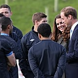 Kate and William Help Christen a New English Soccer Center