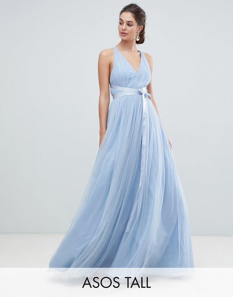 asos blue bridesmaid dress - 63% OFF