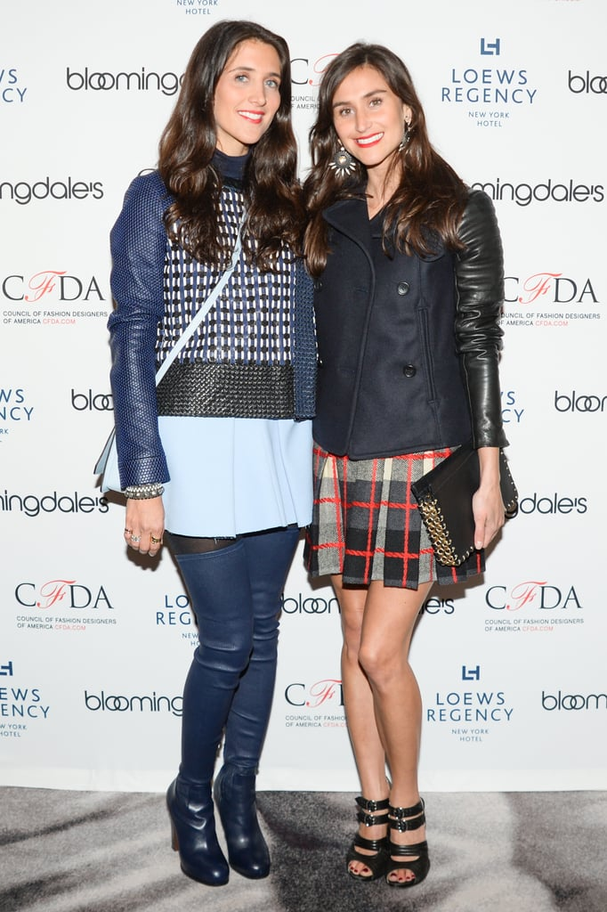 Jodie Snyder Morel and Danielle Snyder at the Bloomingdale's Super Bowl kickoff with the CFDA.