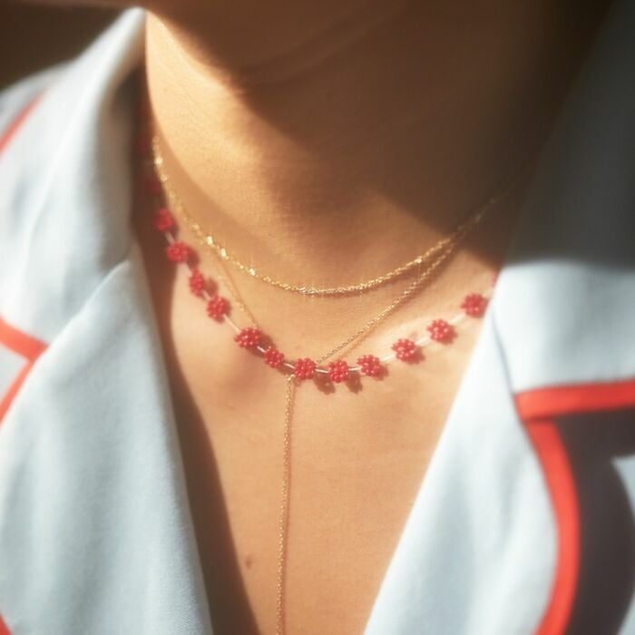 Small Love Red Heart Pendant Necklace Valentine/'s Day Charm Lady Woman Jewelry