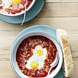 Baked Eggs With Tomatoes and Pancetta
