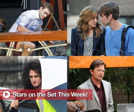 Pictures of Justin Timberlake, Chace Crawford, Larry David, and More on Set