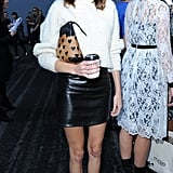 Alexa Chung kept things minimal in black and white at Erdem.