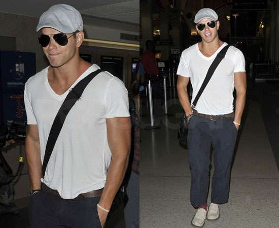 Pictures of Kellan Lutz at LAX as Breaking Dawn Gets Production Date of 1 November 2010 to 15 March 2011