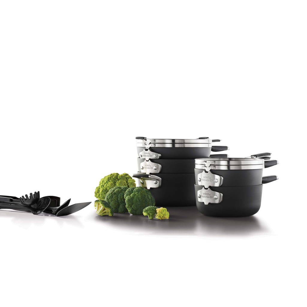 Select by Calphalon Space Saving Hard-Anodized Nonstick Cookware Set