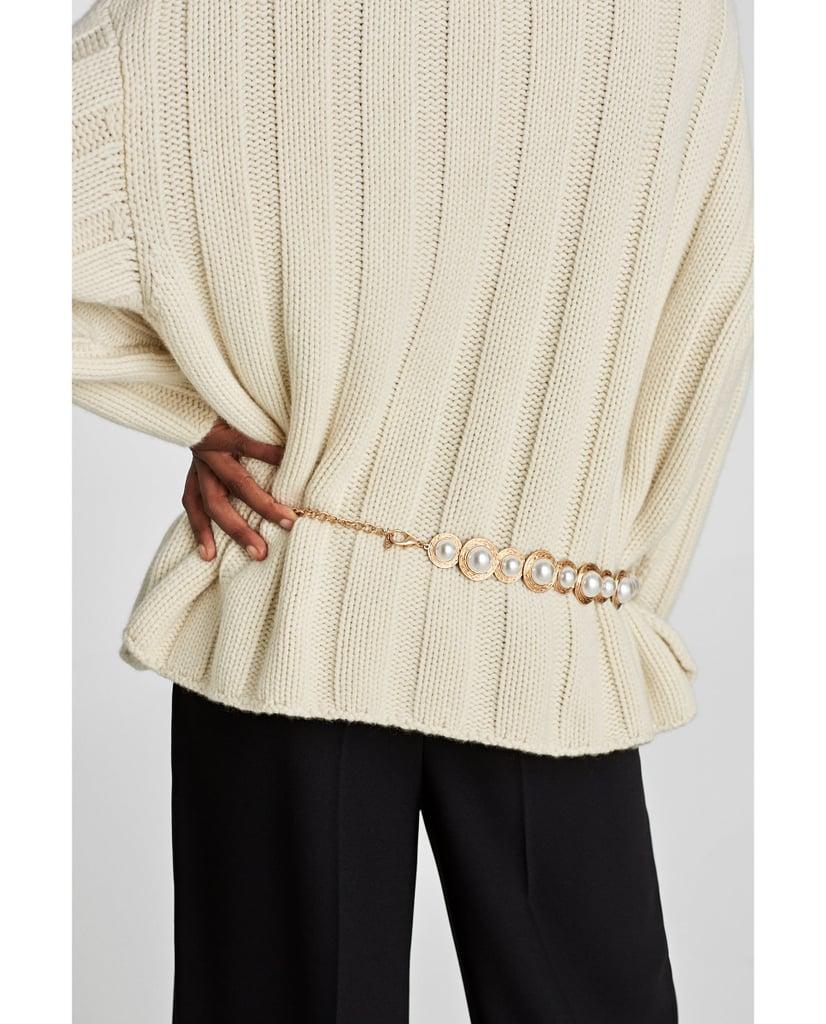 Zara Pearl and Jewel Belt
