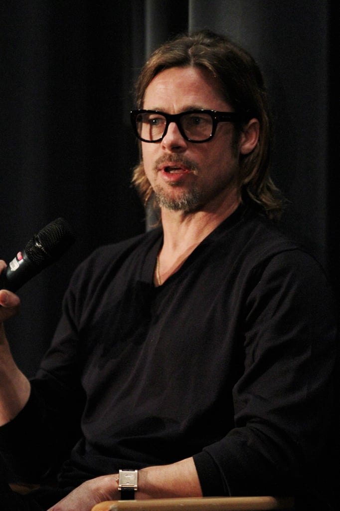 Brad Pitt was on hand to answer questions about Moneyball.