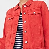 Mango Color Denim Jacket