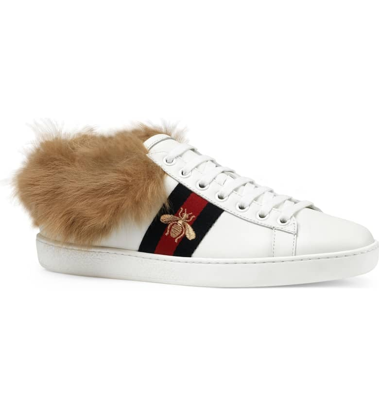 69821c049 Gucci New Ace Genuine Shearling Lining Sneaker | Cozy Shoes 2018 ...