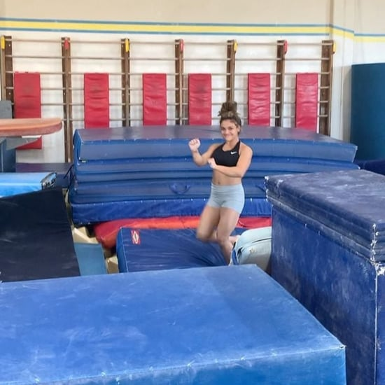 Watch Laurie Hernandez Land a Flip and Hit the Woah