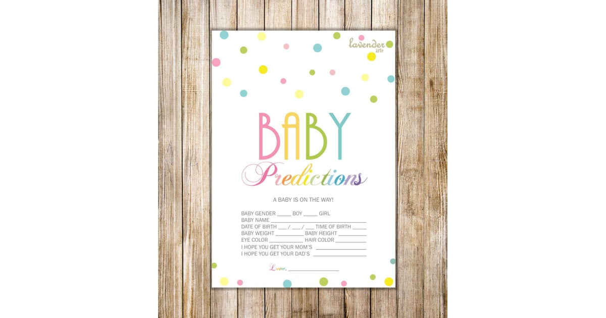 Rainbow Baby Predictions Game | Rainbow Baby Shower Ideas | POPSUGAR