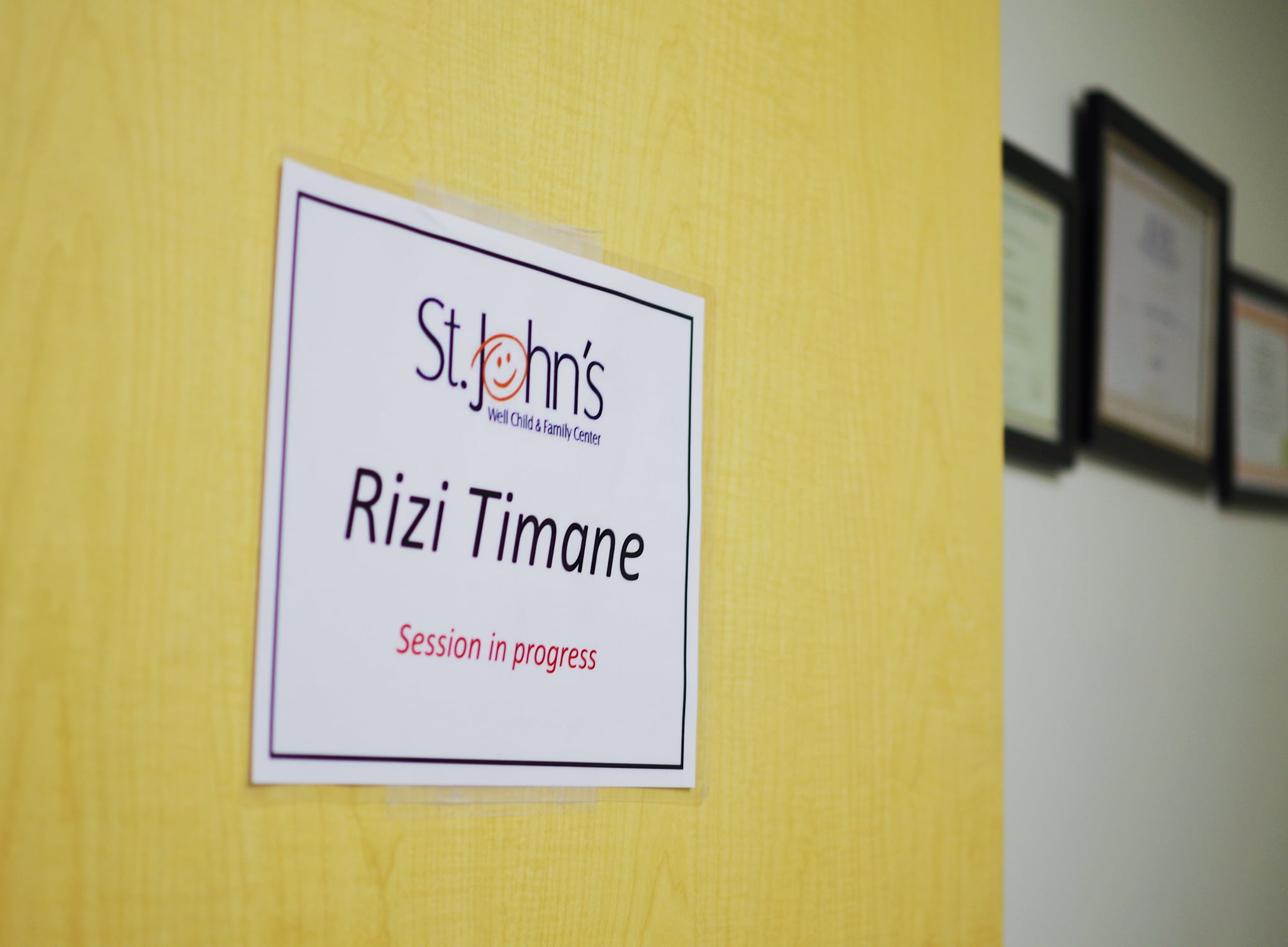 Rizi Timane's office at St. John's Well Child and Family Center in Los Angeles
