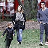 Jessica Alba and Cash Warren with Honor and Haven in NYC.