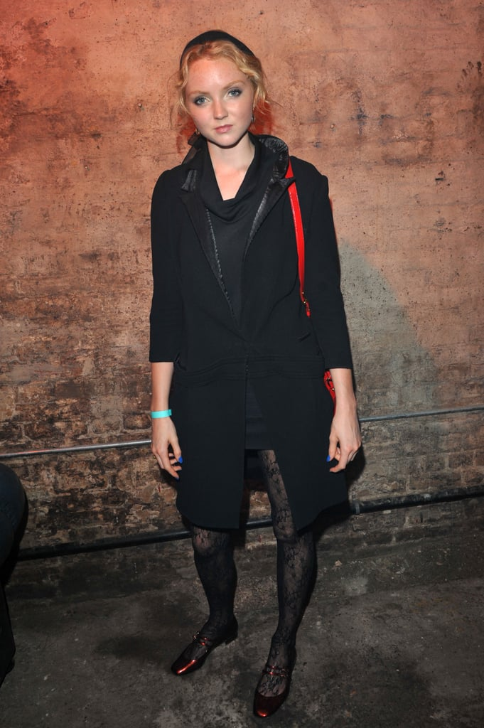 Lily Cole attended a Clinton Foundation event in London.