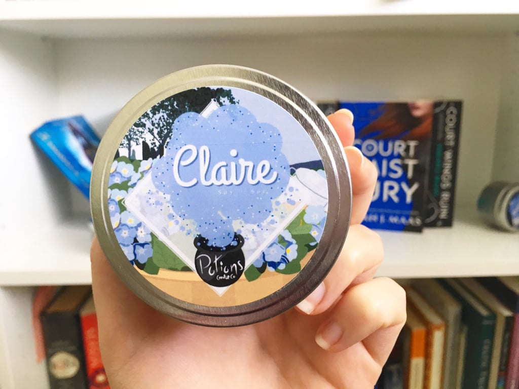 Claire candle ($8) with notes of vanilla, oriental flowers, musk, and freesia.