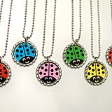 Lady Bug Bottlecap Necklaces (6 for $12)