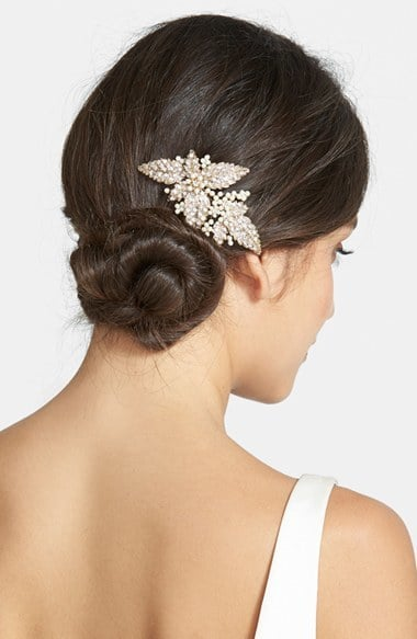 Wedding Belles New York Glass Pearl Hair Comb | Holiday Hair Accessories 2015 | POPSUGAR Beauty ...