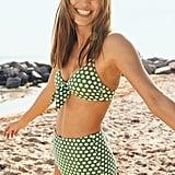 Aerie Pique Tie Scoop Bikini Top and Pique High-Waisted Bikini Bottoms