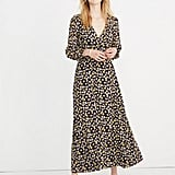 Petite Wrap-Front Maxi Dress in French Floral