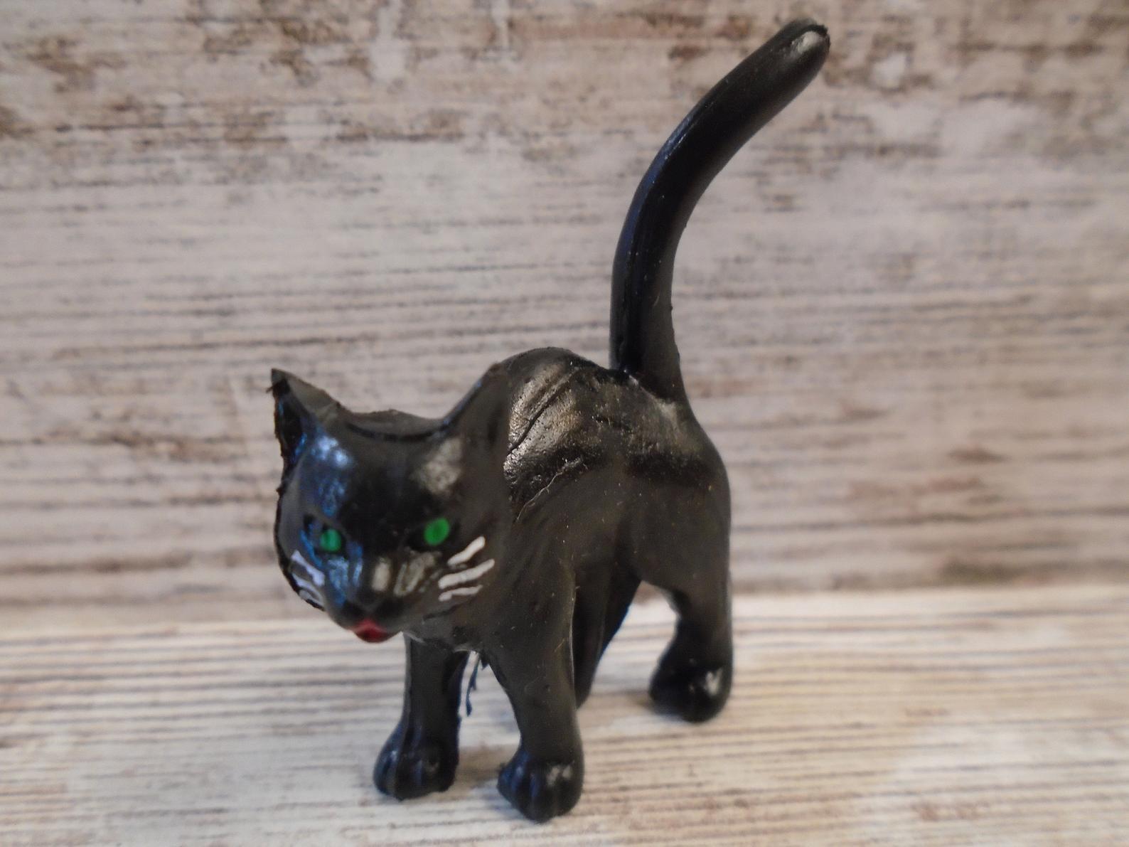 Black Cat Miniature Vintage Halloween Decoration