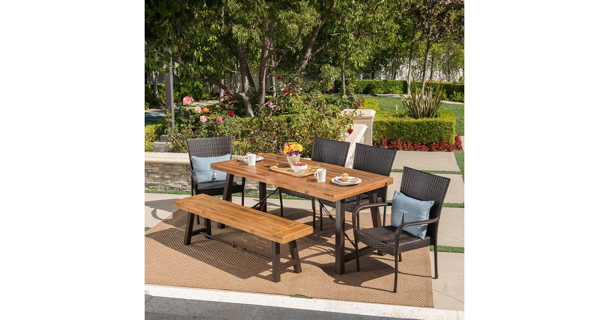 Christopher Knight Home Salla Outdoor Acacia Wood Dining