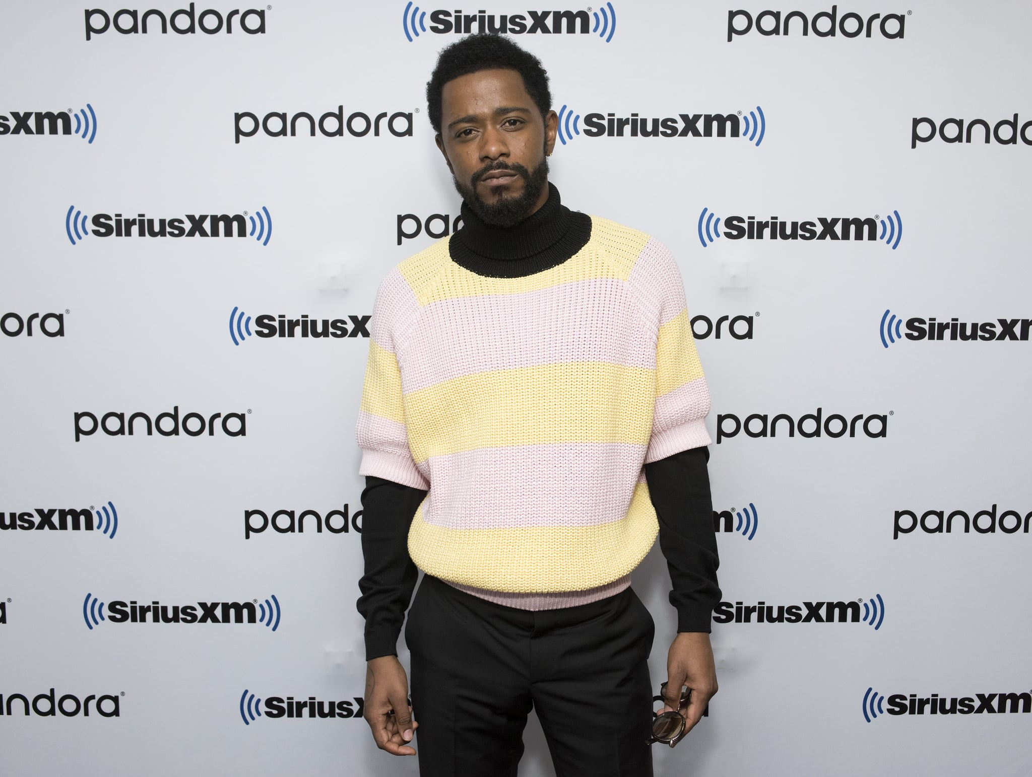 NEW YORK, NEW YORK - FEBRUARY 10: (EXCLUSIVE COVERAGE) Lakeith Stanfield visits SiriusXM Studios on February 10, 2020 in New York City. (Photo by Bonnie Biess/Getty Images)