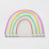 Pillowfort Neon Rainbow Wall Art ($35)