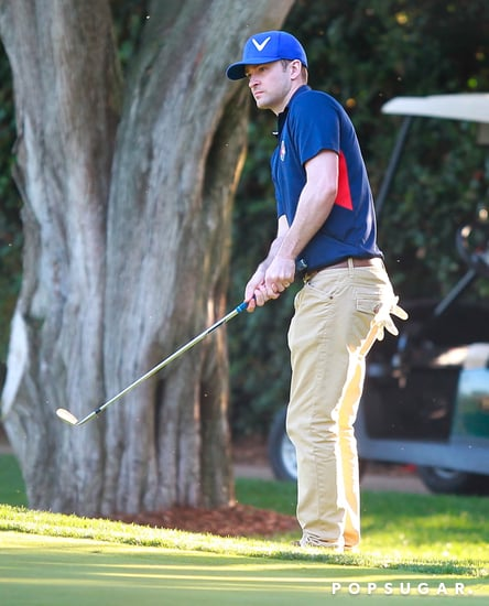 Justin Timberlake Golfing With Kiefer Sutherland | Photos
