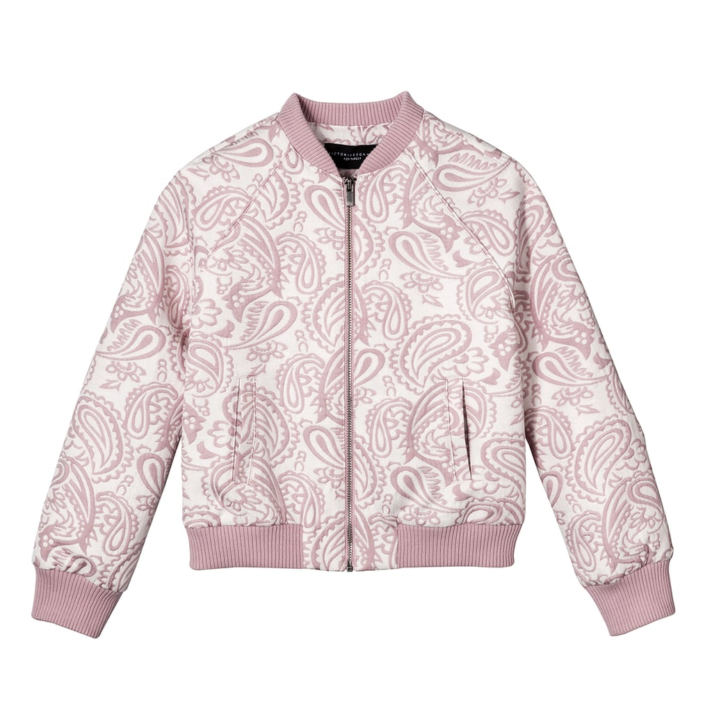 Girls' Blush Floral Jacquard Bomber Jacket  ($25)